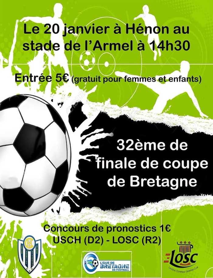 32e de finale de coupe de Bretagne de football 0