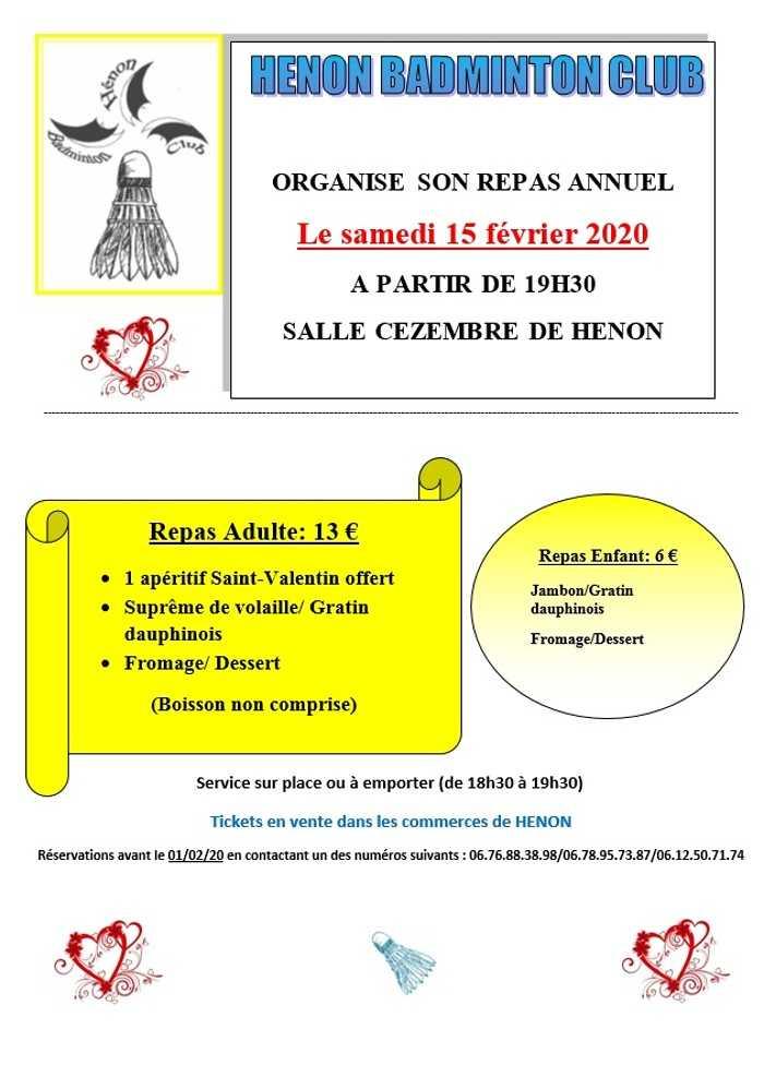 Repas du Hénon Badminton Club 0