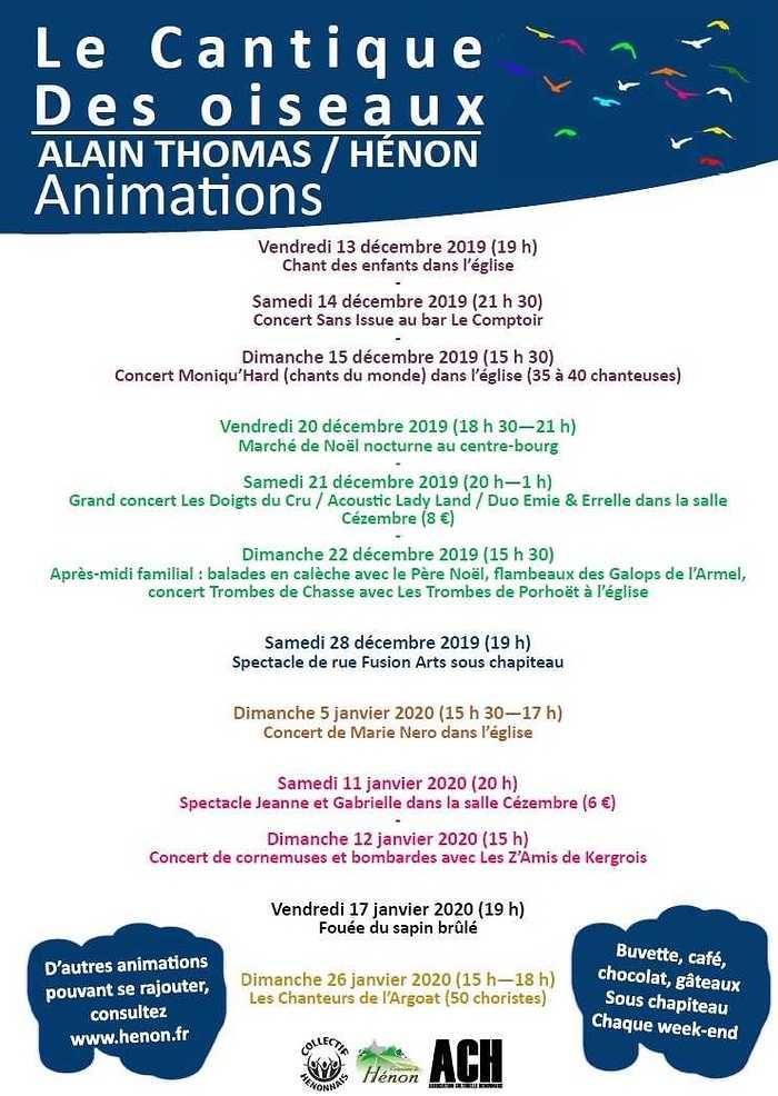 Le Cantique des Oiseaux, un événement culturel exceptionnel animationsprogramme