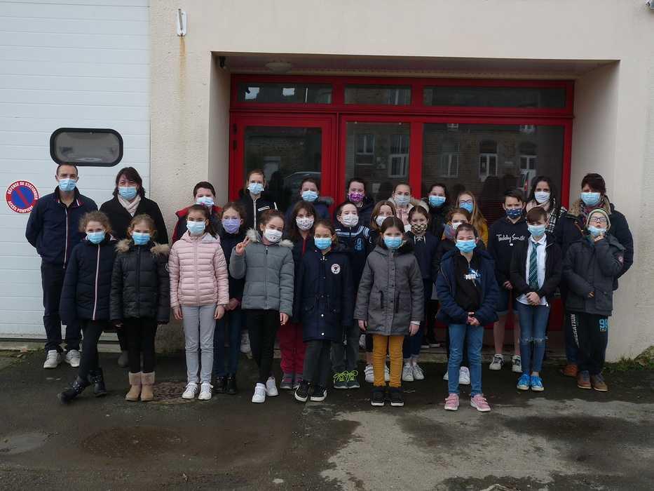 Caserne des pompiers : Une fresque sera réalisée par les élèves de l''école du Sacré Cœur 0